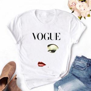 ZOGANKIN Princess Makeup Vogue Print Vogue T shirt Women Kawaii Tshirt Streetwear Summer Top Woman Clothes #oD7W