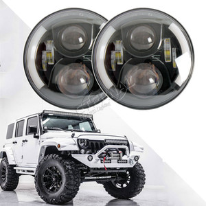 free 2x 60W 7 inch Led headlights on the field high beam with drl Daytime running lights for car off road Niva lada 4x4 tuning