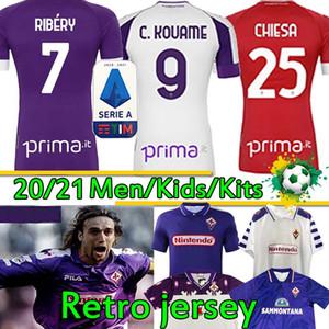 Ретро ACF Fiorentina футбольные рубашки Batistuta Rui Costa 1992 93 95 96 98 99 2000 Vestiti Da Calcio 20 21 футбол трикотажные изделия Ribéry Men Kids Kit