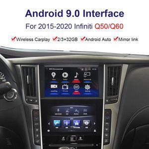Android System Car Radio Player Interfaz de video para Infiniti Q50 / Q60 2015-2020 GPS Interfaz de navegación YouTube, Netflix
