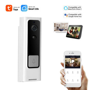 Беспроводной WiFi Hoolbell Video Intercom Visual Peephole Viewer Работа с Tuya Smart Life Door Phone