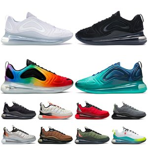 nike air max 720 nike 720 818 stock x Tênis de corrida masculino feminino da moda Pure Platinum Black Mesh Be True Sea Forest University Red tênis de treino