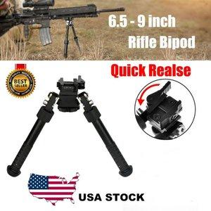 V8 Riflescope BiPod BiPod Tactical BiPod per il fucile da caccia Ritorno a molla regolabile con accessori da caccia adattatore Accessori per fucili ad aria