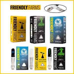 Neueste Freundliche Bauernhöfe Alien Labs Vape-Patrone 0.8ml Leerer Tank Keramikspule Dicke Öl 510 Keramikkarren Verpackungsbox