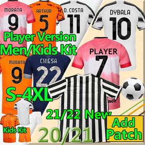 New juventus 2021 2022 Tailandia camiseta de fútbol RONALDO 20 21 Juventus camiseta de fútbol DYBALA MORATA DE LIGT 20 21 JUVE Hombres y niños uniformes de fútbol