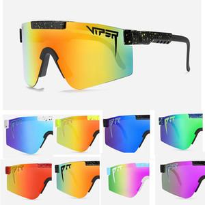 Горячие продажи Pit Viper Высокое Качество TR90 Поляризованные солнцезащитные очки для мужчин / Женщины Открытый QIND Защитный Eyewear 100% УФ-Зеркальный объектив UV400