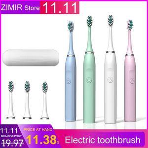 فرشاة الأسنان الكهربائية عاشق الكبار بالموجات القابلة لإعادة الشحن لينة الشعر التلقائي فرشاة الأسنان الصانع بالجملة OEM