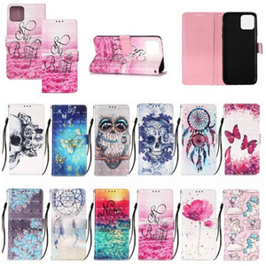 New fashion dream catcher butterfly flower imprinted flip leather wallet case for iphone 12 11 pro max x xr xs max 6 7 8 plus