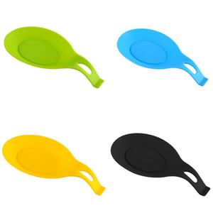 Silikonlöffel Pad Pure Farbe Löffel Form Matte Küche Gadget Hochtemperaturbeständigkeit leicht zu reinigen 1 7DH J2