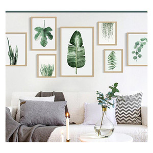 Green Plant Digital Painting Modern Decorato Immagine incorniciata Pittura Fashion Art Painted Hotel Divano Decorat Jllxqx Garden_light