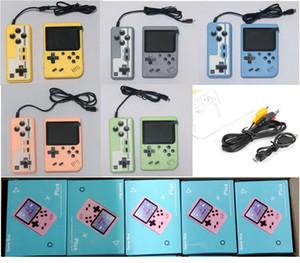 Mini Palmare Macaron Game Console 500 in 1 Retro Video Game Game Console 8 Bit 3,0 pollici Supporto LCD colorato Due giocatori con imballaggio al dettaglio