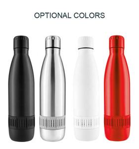 2020 NOUVEAU style de vie Smart Cupe Smart Sport Cap Tumbler Cola Forme Vaccum Flacon Boire Petite musique Bouteille de haut-parleur Bluetooth