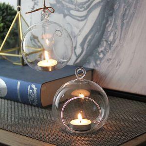 8cm cristal vidro pendurado castiçal castiçal caseiro festa de casamento jantar decoração de vidro redondo planta de ar vaso bolha bolha bolha bolha bolha bolha bolha bolha bolha esferas