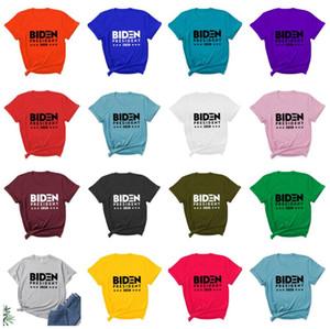Homens Mulheres Biden Harries Cartas T-shirt EUA Eleição Presidencial Joe Manga Curta Casual Camisa Tops Tees T-shirt S-3XL OWE2984