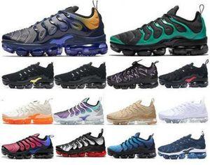 Ucuz 2020 TN Artı Metalik Beyaz Gümüş Üçlü Siyah Erkekler Koşu Ayakkabıları TN Artı Eğitmen Sneaker Ayakkabı Toptan