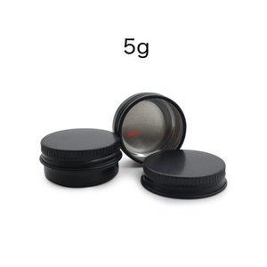 5g Matte Black Makeup Skin Care Cream sample Jars Castor Oil Face Eye Foot Hand Pads Mask Aluminum Packaging Box 50pcsgood qualtitygood shop