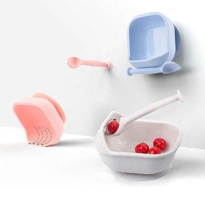 LOFCA 1SET Baby Silicone кормление пищевой сорт разливной всасывающий всасывающий миску обучающиеся блюда посуда детская тарелка