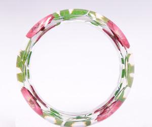 Ретро ручной работы ретро новая смола сухой цветок счастливый браслет красная маленькая ромашка роза натуральный завод сушеный цветочный браслет для девочек