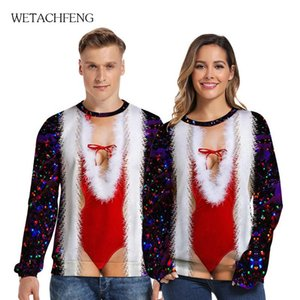 Mens Ugly Christmas Sweater Novelty Funny 3D Printed Fashion Jumpers Autumn Party Couples 2020 Xmas Sweatshirts Cosplay Clothes