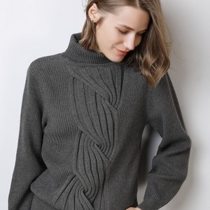 Turtleneck Cashmere Suéter Mujeres Ocio Tamaño grande Suéter de invierno Suéteres de Cashmere para Mujeres Suéteres Jersey Mujer T200815
