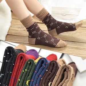 G Socks Womens Sockssport Luxury Designer Women Athletic Socks For Womens Fashion floral print Stockings 6 color