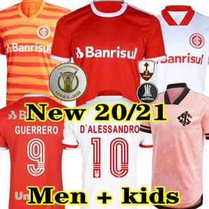 Новый 20 21 Club Internacional Soccer Jersey Red Home 2020 2021 прочь белый розовый третью футбол женщины Н. Лопес Д.Алессандро Потткер Топ