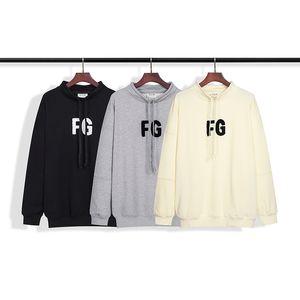 Medo de névoa de deus bordado letra hoodie high street casual hoodie pulôver sweater rua homem womans roupas de alta qualidade