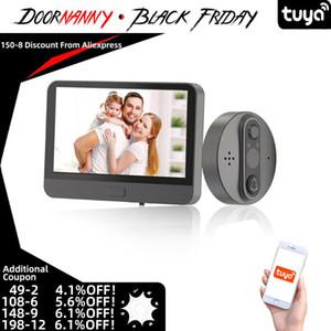 Doornanny Tuya Smart Video Doorbell 720P WiFi فيديو ثقب الباب التطبيق البعيد الطريق المزدوج المحادثة الذكية الجرس اللاسلكية wifi