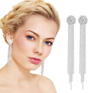 2020 Korean Long Statement Geometric Triangle Tassel Dangle Drop Earrings For Women Earrings Fashion Jewelry Oorbellen Brincos Swy jllLnH