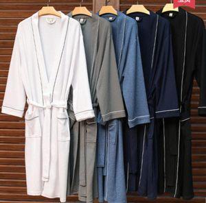 Marca Designer Roupões de Sono Robe Unisex Algodão Sleepwear Night Robe Roupão de Alta Qualidade Roupão de Luxo Robe Respirável Elegrável Elegável 654 Ypec