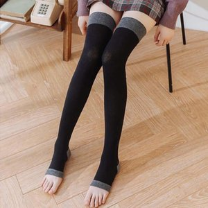 1 Pcs Micro Pressure Solid Color Stocking Japanese Style Middle Tube Knee Stockings Cotton Women Soft Breathable Stocking