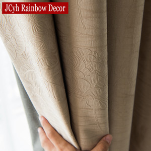 JCyh Solid Blackout Curtains For Living Room Bedroom Modern Blackout Curtains For Window Treatment Drapes Blinds Shading 85% Q1126