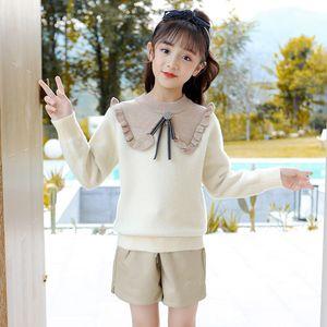 kids designer clothes girls 2020 new children's clothing Korean version girls' sweater bottomed baby shirt long sleeve
