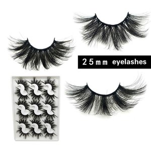 New 9 pairs 3D Faux Mink Eyelashes 25mm Fake Mink Eyelash False Eyelashes Handmade Dramatic Eye Makeup Eyelash Extension 5 sets