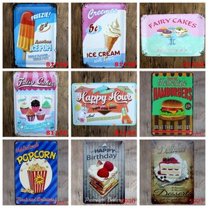Metal Tin Signs Restaurant Poster Plaque Art Sticker Paintings 20*30cm Decorative Iron Plates Bar Club Wall Decor OWD1640