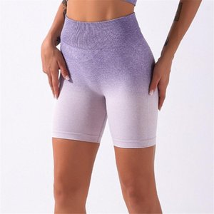 Nuevo Cintura Alta Sport Shorts Mujeres Deporte Entrenamiento Gimnasio Running Yoga Shorts Push Up Hip Super Stretchy Fitness A014S
