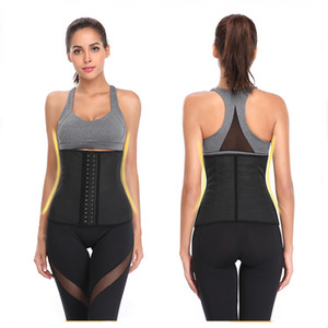 Hot Sale Latex Waist Trainer Corset With Vent Body Shapewear Slimming Belt Tummy Shaper Includes 9 Steel Bones Wasit Trimmer DHL Free
