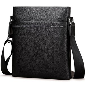Williampolo 2020 Новая сумка на плечо мужской сумка на плечо кожаные сумки Bolsas Grande черная кожаная кожаная кожаная