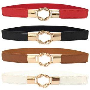 Pelle 1PC Nero Fibbia in metallo Slim elastico cintura elastica Sposa cintura cintura PU elastica accessori del vestito rosso Cinture