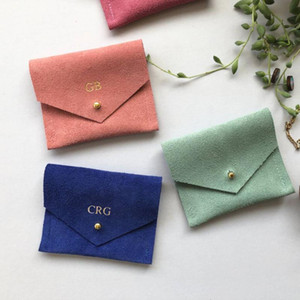 100pcs 사용자 정의 로고 Chicsmall 마이크로 화이버 보석 포장 주머니 봉투 가방 맞춤형 Luxurys earings ring pouches
