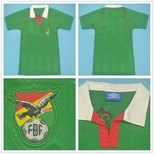 1994 Team National Team Retro Bolivia Soccer Jerseys Classic 10 Etcheverry Home Green 94 Mans Courtois Cru Vintage Kit de football personnalisé