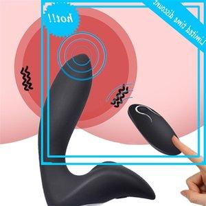 Fêmea erótica Anal Butt Plug Prostate Massagem Dildo Sem Fio Clitóris Estimulador Vibrador Brinquedos Sexuais Para As Mulheres