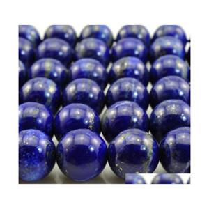 """Envío de piedra natural Lapis Lazuli Redonda Perlas sueltas 15 """"Strand 4 6 8 10 12 14mm Tamaño de selección para joyería Hacienda No.SAB12 Venta caliente 1yqq9"""