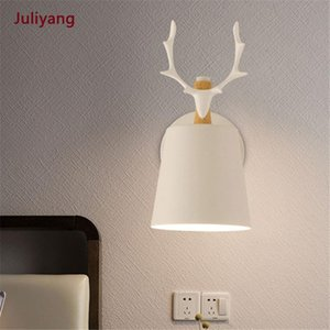 Nordic minimalist fashion antler wall lamp modern bedroom living room dining room corridor TV wall bedside sconce lamp