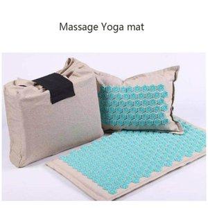 Nature Linen Coconut Palm Mas Yoga Mat Sport Pillow Mat With Bag Lotus Spike Acupressure Mat Cushion Yoga Matt jllmeg