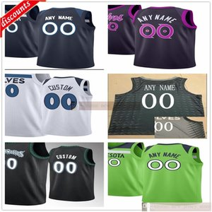 Stampato personalizzato D'Angelo 0 Russell Karl-Anthony 32 Towns 1 Evan Turner 9 Allen Crabbe 16 James Johnson 23 Jarrett Culver Jake Layman Jerseys