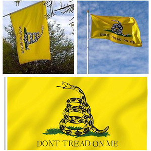 Home Garden Decor Snake Flag 90*150CM Yellow Snake Gadsden State Flag Tea Party Culpeper DONT TREAD ON ME Flag Banner
