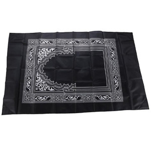 Islamic Prayer Rug Portable Braided Mat Portable Zipper Compass Blankets Travel Pocket Rugs Muslim Rugs Muslim Worship Blanket PPE4042