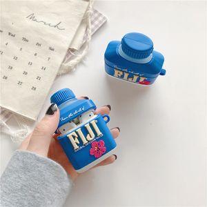 3d لطيف فيجي مشروب المياه القضية ل airpods 1 2 برو غطاء سماعة حماية لتفاح سماعات بلوتوث حالات الجسم الكامل سيليكون TPU