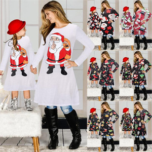 Autumn and Winter New Long-sleeved Knitted Dress, Christmas Dress Parents and Children